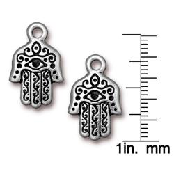 Beadaholique Silverplated Pewter Hamsa Hand Charms (Set of 2)