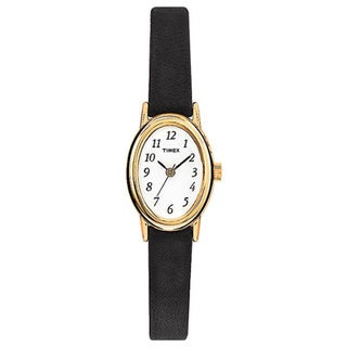 Timex Women's T21912 Cavatina Black Leather Strap Watch