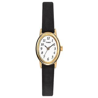 Timex Women's T21912 Cavatina Black Leather Strap Watch|https://ak1.ostkcdn.com/images/products/5754932/P13484634.jpg?impolicy=medium