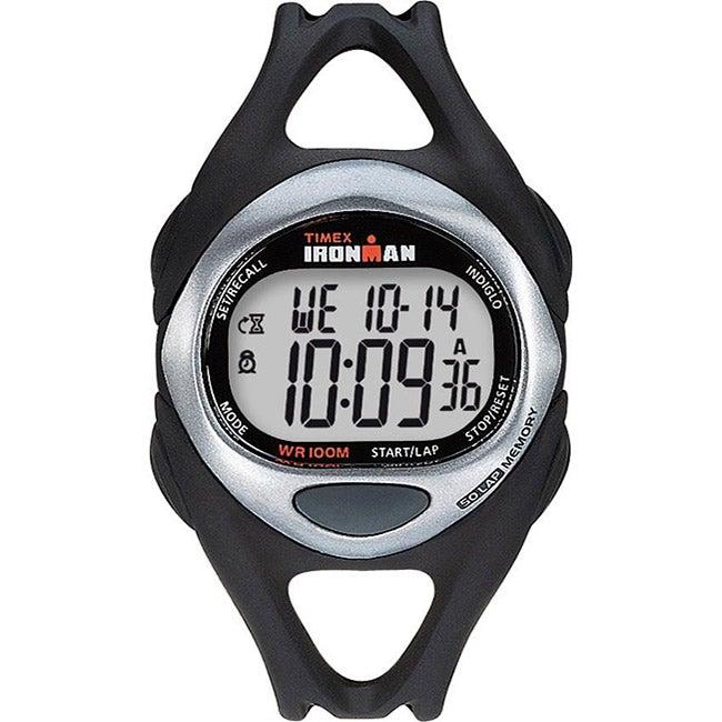 Timex Men's T54281 Ironman Sleek 50-Lap Black/Silvertone/...