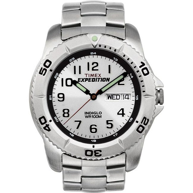 Timex Men's T46601 Expedition Stainless Steel Bracelet Watch