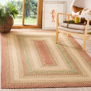 Safavieh Hand-woven Indoor/Outdoor Reversible Multicolor Braided Area Rug - 4' x 6'