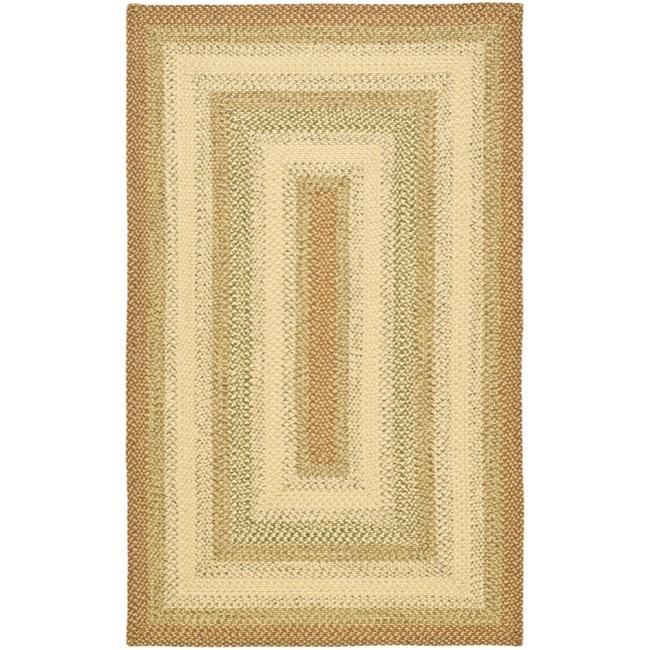 Safavieh Hand-Woven Indoor/Outdoor Reversible Multicolor Braided Area Rug (6' x 9')