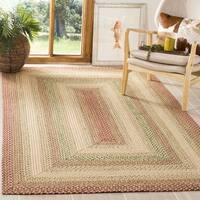 Safavieh Handwoven Indoor/Outdoor Reversible Multicolor Braided Rug - 6' x 6' Square