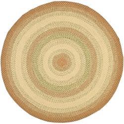 Safavieh Handwoven Indoor/Outdoor Reversible Multicolor Braided Area Rug (8' Round)