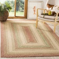 Safavieh Handwoven Indoor/Outdoor Reversible Multicolor Braided Area Rug (8' Square) - 8' x 8'