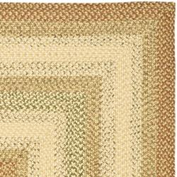 Safavieh Hand-woven Indoor/Outdoor Reversible Multicolor Braided Rug (9' x 12') - Thumbnail 1