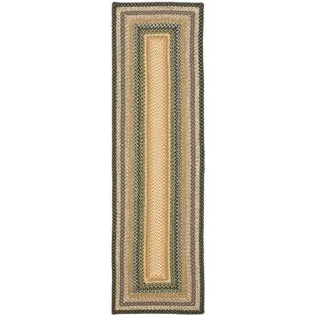 Safavieh Hand-woven Indoor/Outdoor Reversible Multicolor Braided Rug (2'3 x 8')