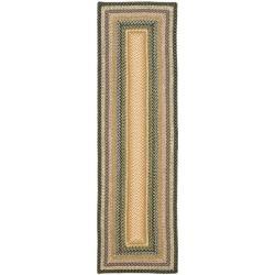 "Safavieh Hand-woven Indoor/Outdoor Reversible Multicolor Braided Rug - 2'3"" x 8'"