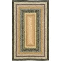 Safavieh Hand-woven Indoor/Outdoor Reversible Multicolor Braided Rug - 3' x 5'