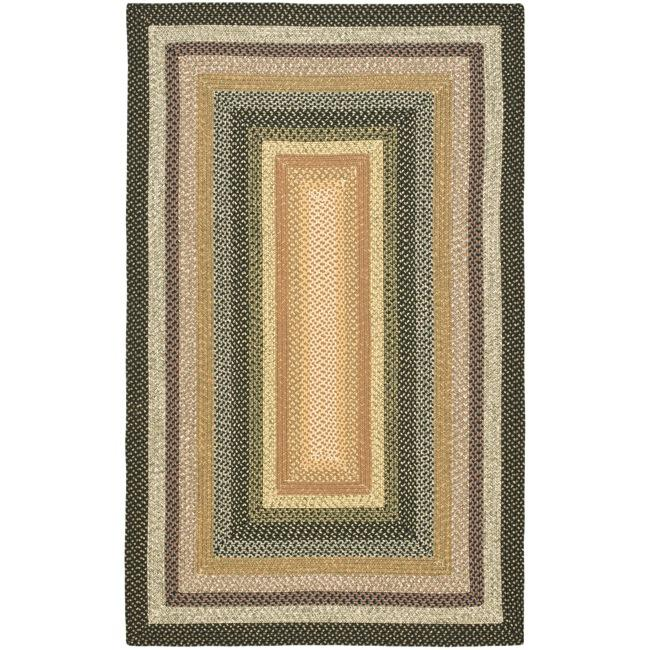 Safavieh Hand-woven Indoor/Outdoor Reversible Multicolor Braided Rug (5' x 8') - Thumbnail 0