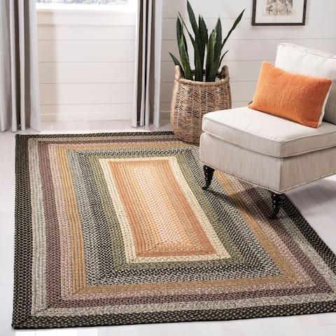 Safavieh Hand-woven Indoor/ Outdoor Reversible Multicolor Braided Rug - 5' x 8'