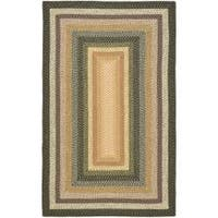 Safavieh Hand-woven Indoor/Outdoor Reversible Multicolor Braided Rug - 6' x 9'