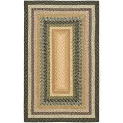 Safavieh Hand-woven Indoor/Outdoor Reversible Multicolor Braided Rug - 6' x 9'