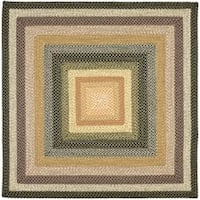 Safavieh Hand-woven Indoor/Outdoor Reversible Multicolor Braided Rug - 6' x 6' Square