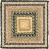 Safavieh Hand-woven Indoor/Outdoor Reversible Multicolor Braided Rug - 6'