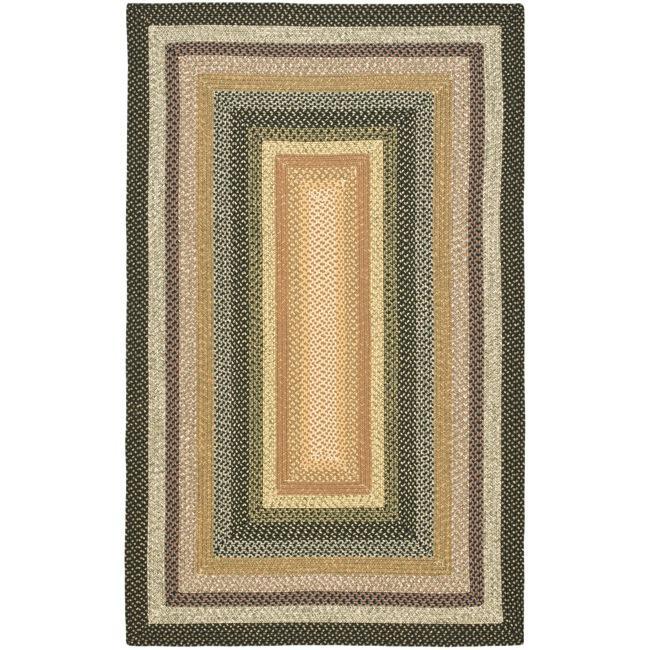 Safavieh Hand-woven Indoor/Outdoor Reversible Multicolor Braided Rug - 8' x 10'