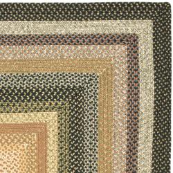 Safavieh Hand-woven Indoor/Outdoor Reversible Multicolor Braided Rug (8' x 10') - Thumbnail 1
