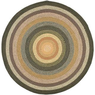 Safavieh Hand-woven Indoor/Outdoor Reversible Multicolor Braided Rug (8' Round)