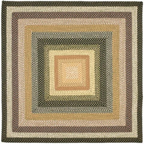 Safavieh Hand-woven Indoor/Outdoor Reversible Multicolor Braided Rug - 8' x 8' Square
