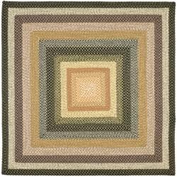 Safavieh Hand Woven Indoor Outdoor Reversible Multicolor Braided Rug 8 Square