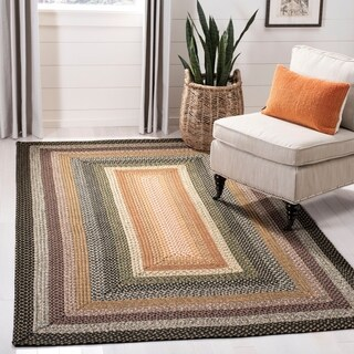 Safavieh Hand-woven Indoor/Outdoor Reversible Multicolor Braided Rug - 9' x 12'