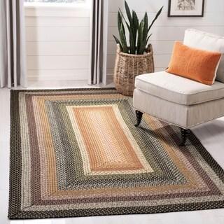 Safavieh Hand Woven Indoor/Outdoor Reversible Multicolor Braided Rug (9u0027 X  12