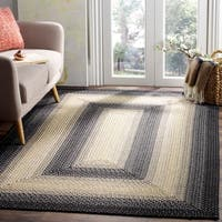 Safavieh Hand-woven Reversible Multicolor Braided Rug - 6' x 9'