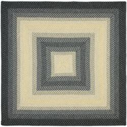 Safavieh Hand-woven Reversible Multicolor Braided Rug (6' Square)