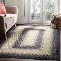 Safavieh Hand-woven Reversible Multicolor Braided Rug - 6' x 6' Square