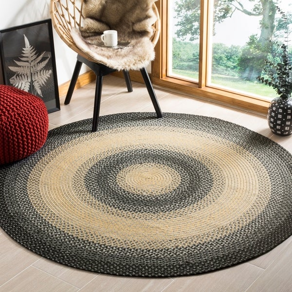 Safavieh Hand-woven Reversible Multicolor Braided Rug - 8' x 8' Round