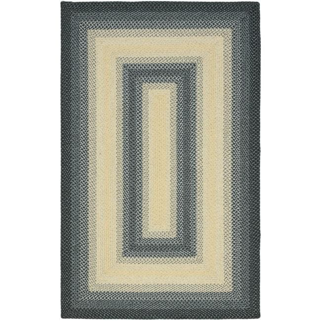 Safavieh Hand-woven Reversible Multicolor Braided Rug (9' x 12') - Thumbnail 0