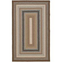 Safavieh Hand-woven Country Living Reversible Brown Braided Rug - 2'6 x 4'