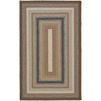 Safavieh Hand-woven Country Living Reversible Brown Braided Rug (2'6 x 4') - 2'6 x 4'