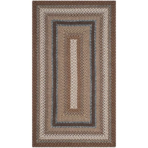 Safavieh Hand-woven Country Living Reversible Brown Braided Rug - 3' x 5'