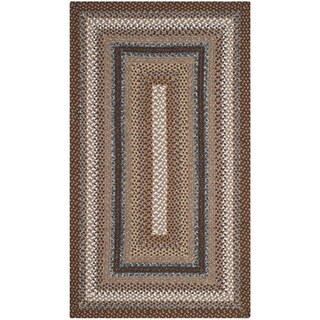 Safavieh Hand-woven Country Living Reversible Brown Braided Rug (3' x 5') - 3' x 5'