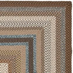 Safavieh Hand-woven Country Living Reversible Brown Braided Rug (4' x 6') - Thumbnail 1