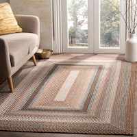 Safavieh Hand-woven Country Living Reversible Brown Braided Rug - 4' x 6'