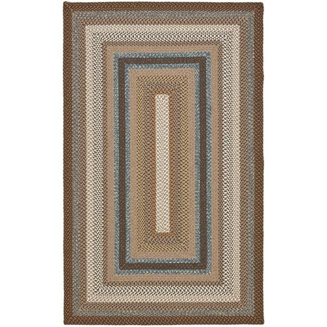 Safavieh Hand Woven Country Living Reversible Brown Braided Rug (5u0026#x27; ...