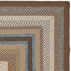 ... Safavieh Hand Woven Country Living Reversible Brown Braided Rug (5u0027 X  8u0027 ...