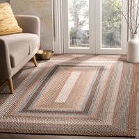 Safavieh Hand-woven Country Living Reversible Brown Braided Rug - 6' x 9'