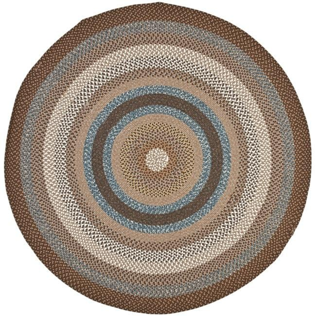 Safavieh Hand-woven Country Living Reversible Brown Braided Rug (6' Round)