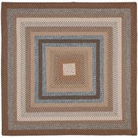 Safavieh Hand-woven Reversible Brown Braided Rug (6' Square) - 6' Square