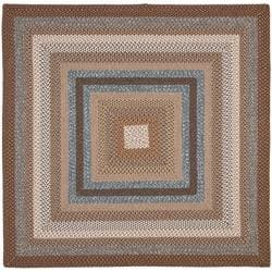 Safavieh Hand Woven Reversible Brown Braided Rug 6 Square