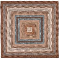 Safavieh Hand-woven Reversible Brown Braided Rug - 6' x 6' Square