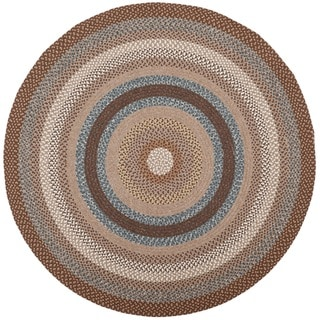 Safavieh Hand-woven Country Living Reversible Brown Braided Rug (8' Round)