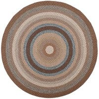 Safavieh Hand-woven Country Living Reversible Brown Braided Rug - 8' x 8' Round