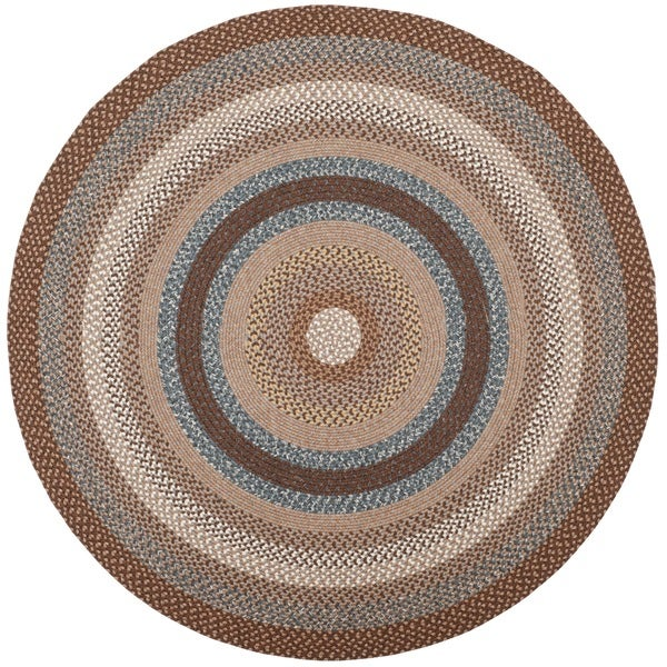 Safavieh Hand Woven Country Living Reversible Brown Braided Rug (8u0027 Round)