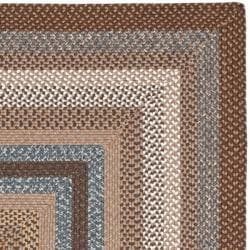 Safavieh Hand-woven Reversible Brown Braided Rug (8' Square) - Thumbnail 1