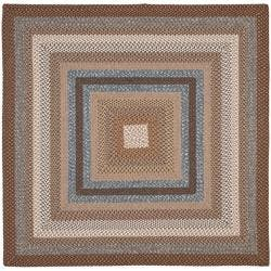 Safavieh Hand-woven Reversible Brown Braided Rug (8' Square)|https://ak1.ostkcdn.com/images/products/5756932/74/159/Hand-woven-Reversible-Brown-Braided-Rug-8-Square-P13486284.jpg?impolicy=medium